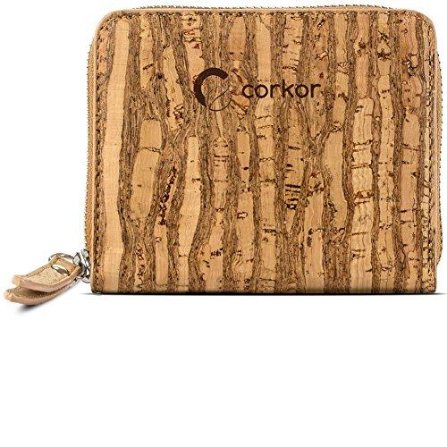 Corkor Cork Wallet Women RFID Blocking | Cards Coin Pocket | Small Vegan Clutch Zebra ()