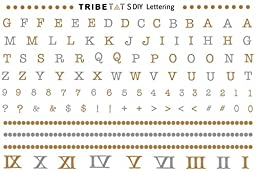 TribeTats DIY Lettering Kit Metallic Temporary Tattoos | Gold, Silver, Rose Gold & Black | Festival Accessories | Create Your Own Words, Sayings & Letters