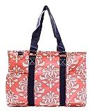 N Gil All Purpose Organizer Medium Utility Tote Bag 2 (Bloom Damask Coral)
