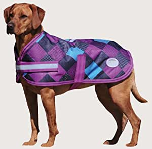 Weatherbeeta Landa Dog Blanket Grey/pink Checkers - 28