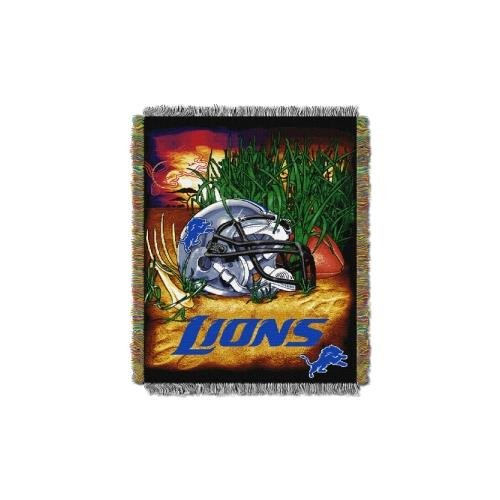 The Northwest Company Detroit Lions NFL Woven Tapestry Throw (Home Field Advantage) (48x60) (2-Pack)