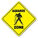 AQUARIUS ZONE Sign novelty gift zodiac horoscope
