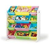 Tot Tutors Kids' Toy Organizer With Storage Bins, Pastel