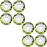 LABEDA Wheels 72mm 74A RPG X-SOFT YELLOW 8-Pack Inline Indoor Hockey