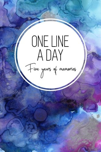 (One Line a Day, Five Years of Memories: Blue Marble Ink, A Five Year Memoir, 6x9 Dated and Lined Diary (One Line a Day: a Five Year Memory Book))