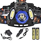 Leegor 15000Lm 3x XML T6 Rechargeable Headlamp HeadLight Torch USB Lamp+18650+ AC Charger + Car Charger Waterproof Travel Flashlights