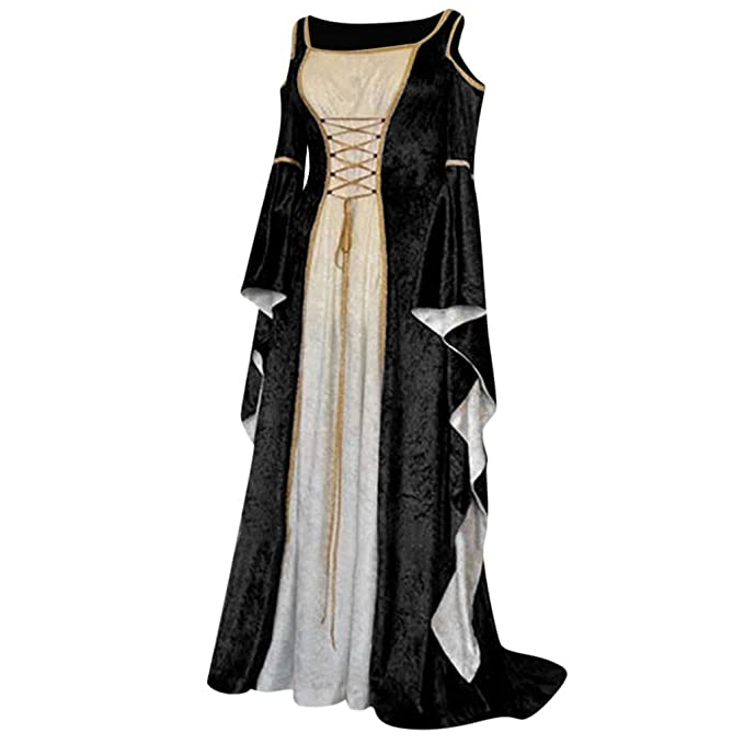 Dress Medieval Costume Ball Gowns Retro Vintage Renaissance Halloween Gothic