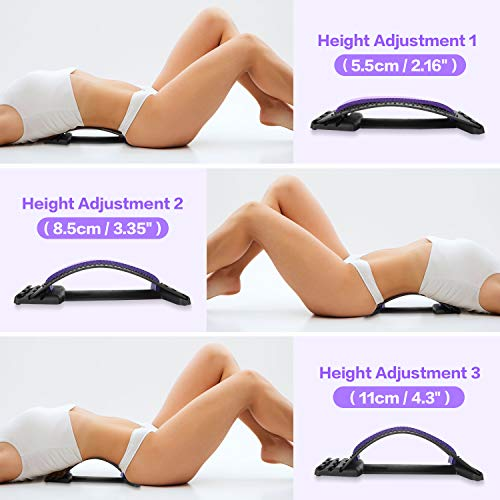 SPTHTHHPY Back Stretcher Back Massager and Lumbar Support Device for Lower and Upper Lumbar Spine Back Pain Relief Massager Support Equipment Adjustable