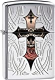 Zippo Pocket Lighter Skull Cross High Polish Pocket Lighter, Chrome