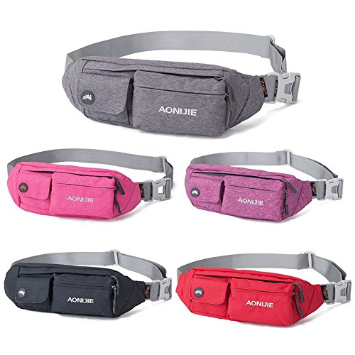 WATERFLY-Water-Resistant-Waist-Bag-Fanny-Pack-Hip-Pack-Bum-Bag-for-Man-Women-Sports-Travel-Running-Hiking-Money-iPhone-6-7-6S-7S-Plus-Samsung-S5-S6