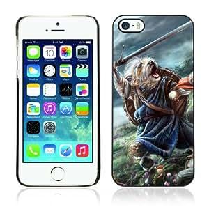 CaseCaptain Carcasa Funda Case - Apple iPhone 5 / 5S / Brave Cute Battle Dog /