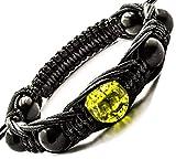 Shungite Strand Bracelet with Gemstone Beads, Chakra Balance, Adjustable Length Olivine Peridot