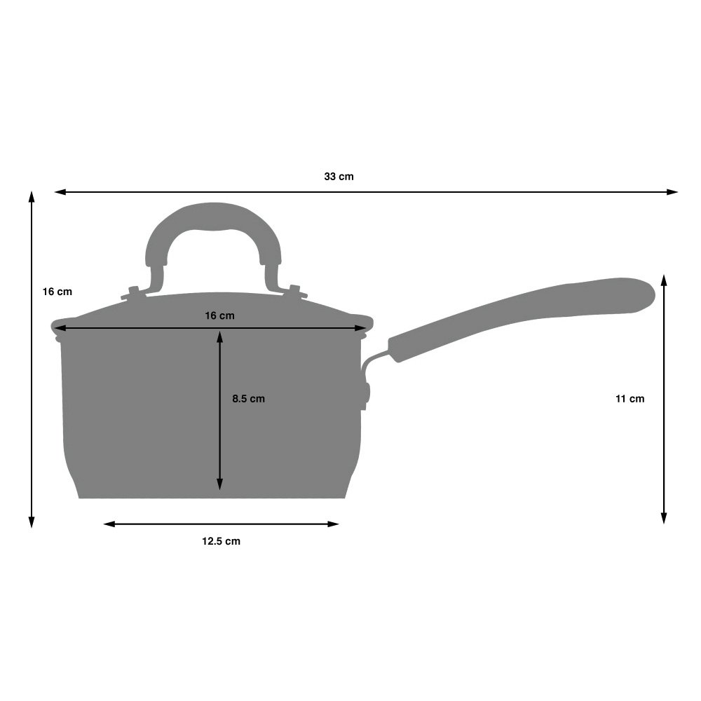 Non-Stick Set of Saucepans for Induction Hobs with Toughened Glass Lids and Non-Slip Stay-Cool Silicone Handles 2 Piece ProCook Gourmet Non-Stick Strain /& Pour Induction Saucepan Set