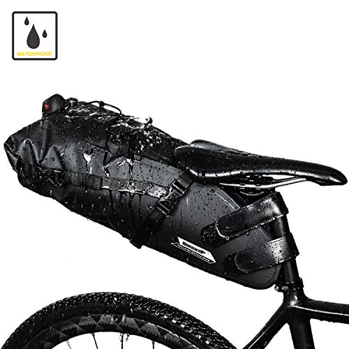 Waterproof Bike Seat Bag Under Seat Pouch Rear Tail Bags Saddle Packs for Road Bike Mountain Bicycle with 10L Large Capacity