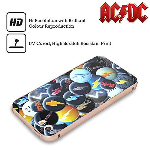 Officiel AC/DC ACDC Foudre Épingles De Bouton Or Étui Coque Aluminium Bumper Slider pour Apple iPhone 5 / 5s / SE