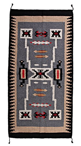 """Hand Woven Southwest Accent Rug, 20"""" X 40"""" (HA403)"""