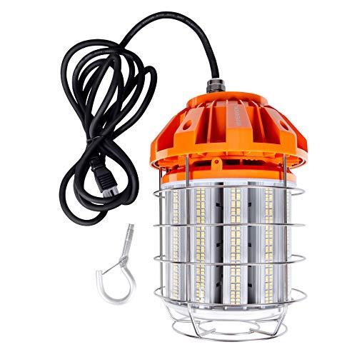 (Hyperikon 125W LED Temporary Work Light Hanging for Construction/Workshop/Jobsite, Corded Portable LED Work Light Fixture, 5000K, 120V, UL)