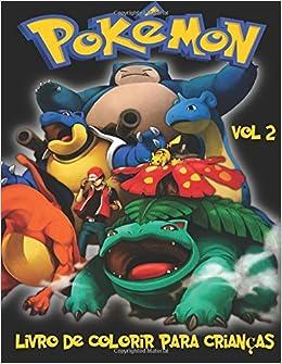 Pokemon Livro De Colorir Para Criancas Volume 2 Neste Tamanho A4