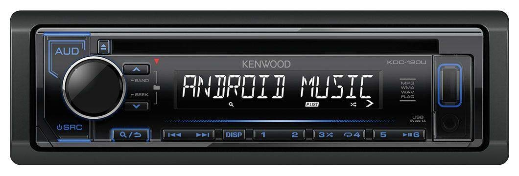 188, 1999-2005 caraudio24 Kenwood KDC-110UB 1DIN MP3 USB CD AUX Autoradio f/ür FIAT Punto