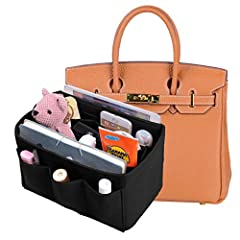 Felt Purse Organizer:Material of the organizer: 3mm Felt Fabric with soft texture ensures sturdiness and durabilityEver freaked out when you couldn't find a particular item in your messy bag? To save you all the trouble, time and moments of e...