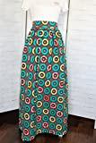 Africa Fabric Long Skirt with Pockets, Ankara Skirt, African Maxi Skirt, African Long Skirt with Pockets