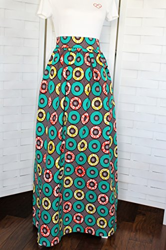 Africa Fabric Long Skirt with Pockets, Ankara Skirt, African Maxi Skirt, African Long Skirt with Pockets by Mawufemor Apparel