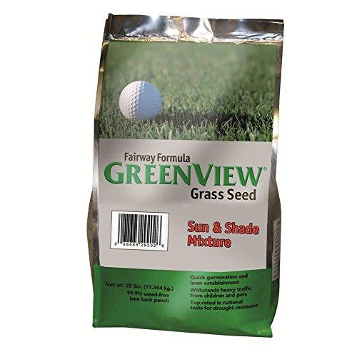 GreenView Fairway Formula Grass Seed Sun & Shade Mixture, 25 lb (Sunny Grass Seed)