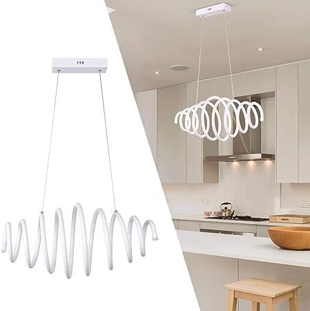 YMXGLT Lámpara LED contemporánea Creativa, lámpara LED Espiral Espiral retráctil, luz de Techo 6500k Blanca fría de 50 vatios, Altura Ajustable para Isla de Cocina, Pasillo, Comedor, cafetería,1pack: Amazon.es: Hogar