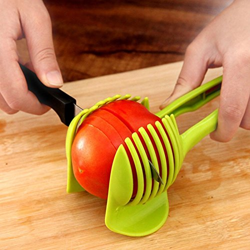 Tomato Slicer ,Multifunctional Handheld Tomato Round Slicer Fruit Vegetable Cutter,Lemon Shreadders Slicer by AppleLand (Image #2)