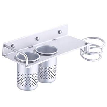 Sunshine home&3 Space - Estante de Aluminio para secador de Pelo de baño, multifunción,