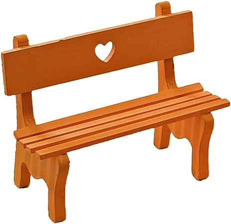 Puppenhaus Gartenmöbel Miniatur Holz Gartenbank Bank für Puppenstube