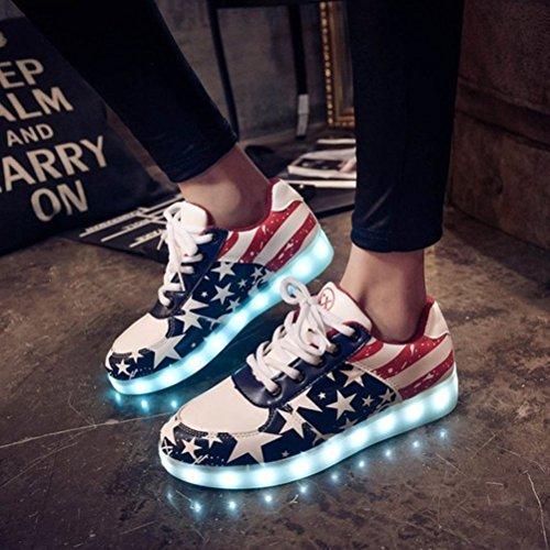 [Present:kleines Handtuch]JUNGLEST® 7 Farben LED Kinder, Jungen, Mädchen führte leuchten Trainer Sneakers Turnschuhe Sportschuh c41