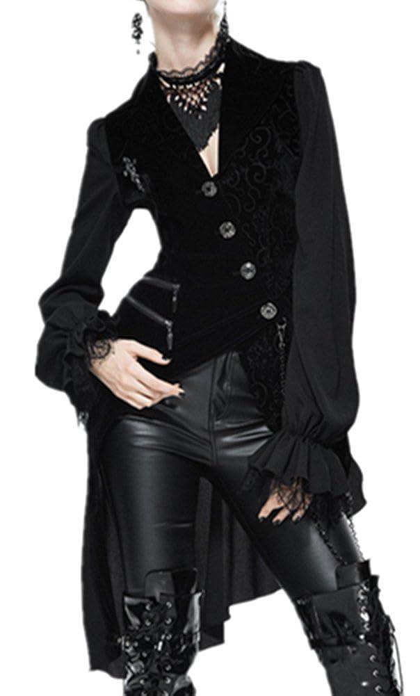 Noir grand Punk family Mode Féminine L'Europe et l'Amérique Faux Deux hauts