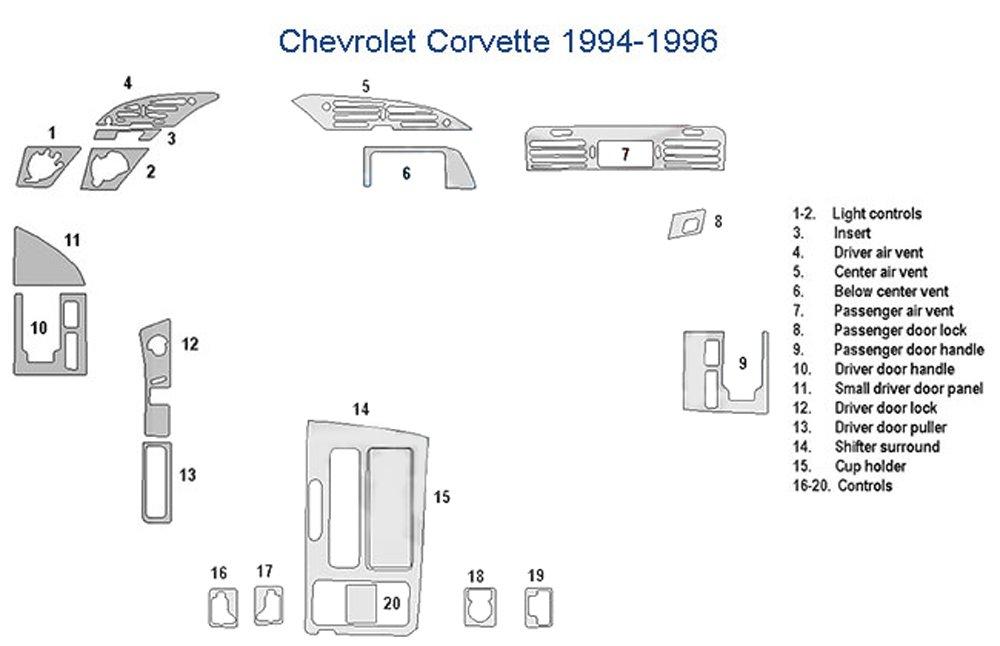 Chevrolet Full Dash Trim Kit - Real Carbon Fiber