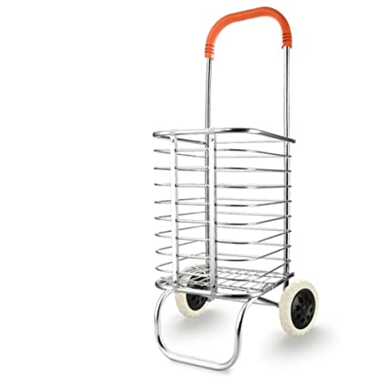 DXG&FX Carrito de la compra comprar un carrito de verduras carrito pequeño carro plegable de la