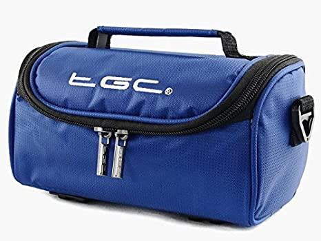 Black /& Dreamy Blue TGC /® Camera Case for Nikon Coolpix P500 with shoulder strap and Carry Handle