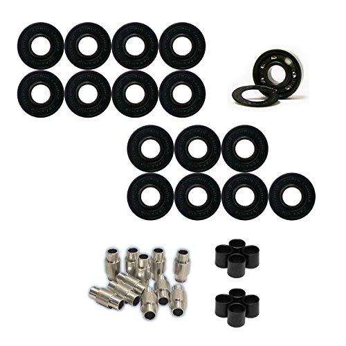 [AMPHETAMINE Roller Hockey Bearings Inline Skate SPEED KIT Ceramic Hybrid] (Hockey Wheel Axle)