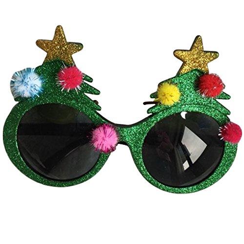 Novelty Glittered Christmas Decoration Fanci-Frames Party Accessory Santa Tree Eyeglasses