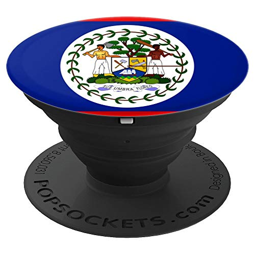 (Belize flag phone holder - PopSockets Grip and Stand for Phones and)