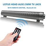 #3: TV Sound Bar Wireless Bluetooth Speaker Soundbar LP-08 Channel 2.0 With Built-In Subwoofer Remote Control Support Optical/AUX/TF Card/USB(Slivery)