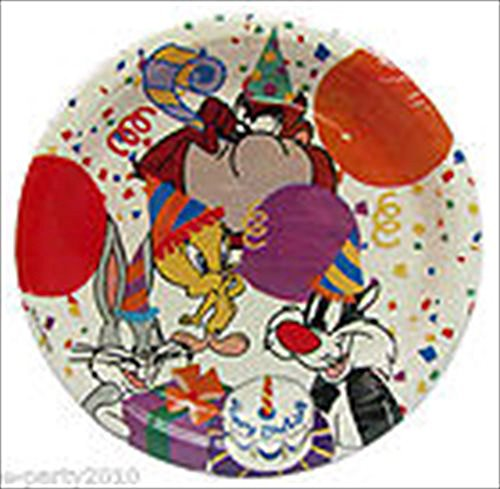 Looney Tunes Vintage Small Paper Plates (8ct)