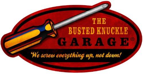 Busted Knuckle Garage BUST123 Metal Screwdriver Sign Knuckle Garage Metal Sign