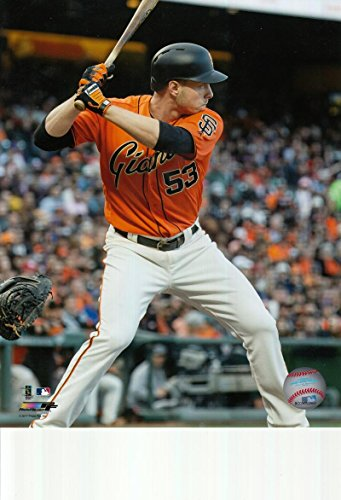 - Austin Slater San Francisco Giants unsigned 8x10 photo (Orange Jersey)