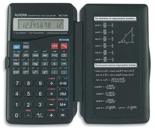 Aurora SC190 8+2 Digit 150-Function Hardcase Scientific Calc