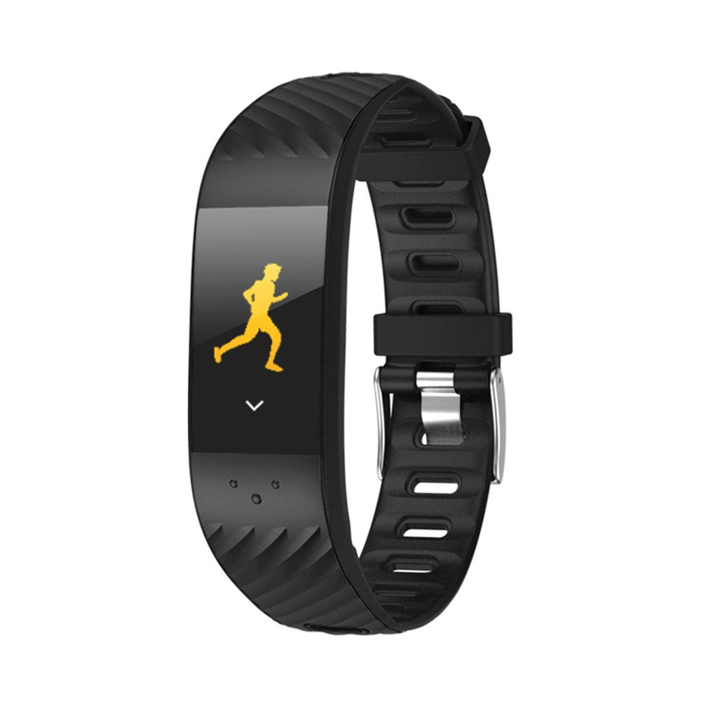 bYtOy Fitness Tracker &リストバンドip67防水Bluetoothカラフルなui Touch Screen Watch Tracker with Heart Rate Monitor & Calorie Counterブレスレットforユニセックスレディース&メンズ、Android & iOS (ブラック) B07D7PRXKP