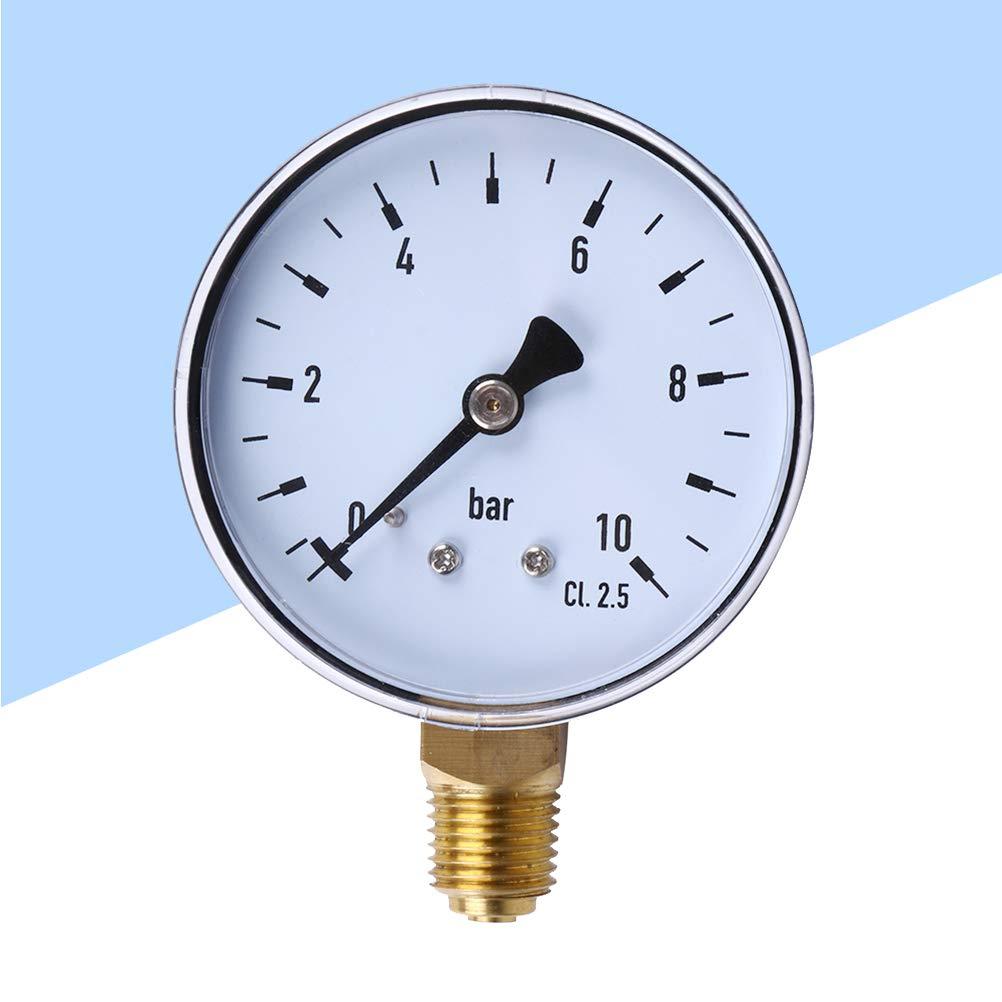 Hemobllo Manom/ètre de Pression hydraulique pour compresseur dair lat/éral 1//40-10 Bars NPT