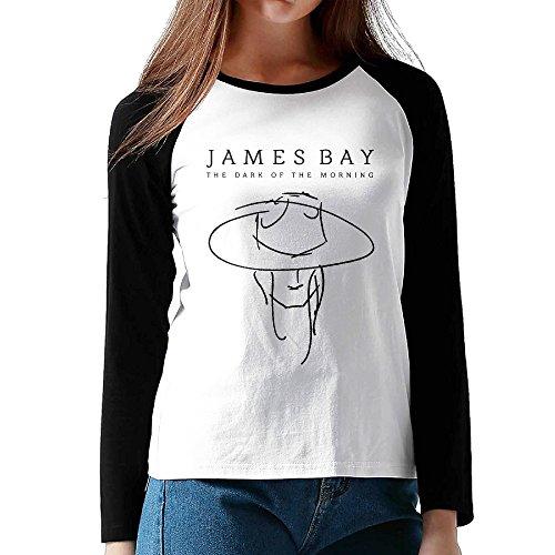 (Attractive Women James Bay When We Were On Fire Lyrics Long Sleeve Raglan Tee Shirts)