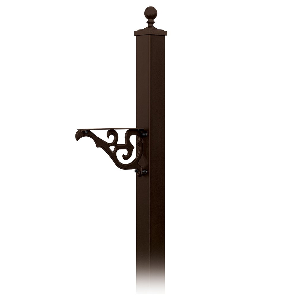 Salsbury Industries 4845BRZ Decorative Mailbox Post Victorian, In-Ground Mounted, Bronze by Salsbury Industries