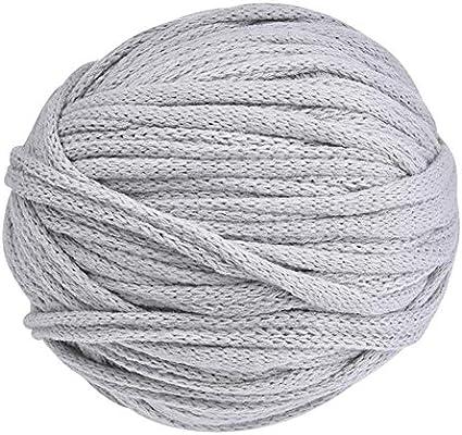 Ablerfly Hilo de algodón Ovillo de Lana para Trabajos con Agujas ...