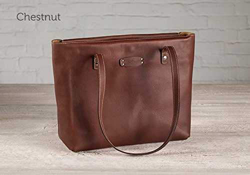 The Leather Tote Bag - Chestnut by Pad and Quill